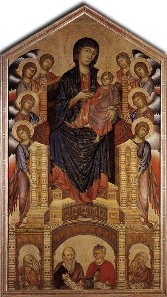 Cimabue The Madonna in Majesty 1285 6